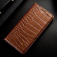 For POCO X3 NFC Flip Case With Card Slot Luxury Crocodile Leather Cases For Xiaomi Pocophone POCO F1 X2 M3 M2 F2 Pro 5G Cover