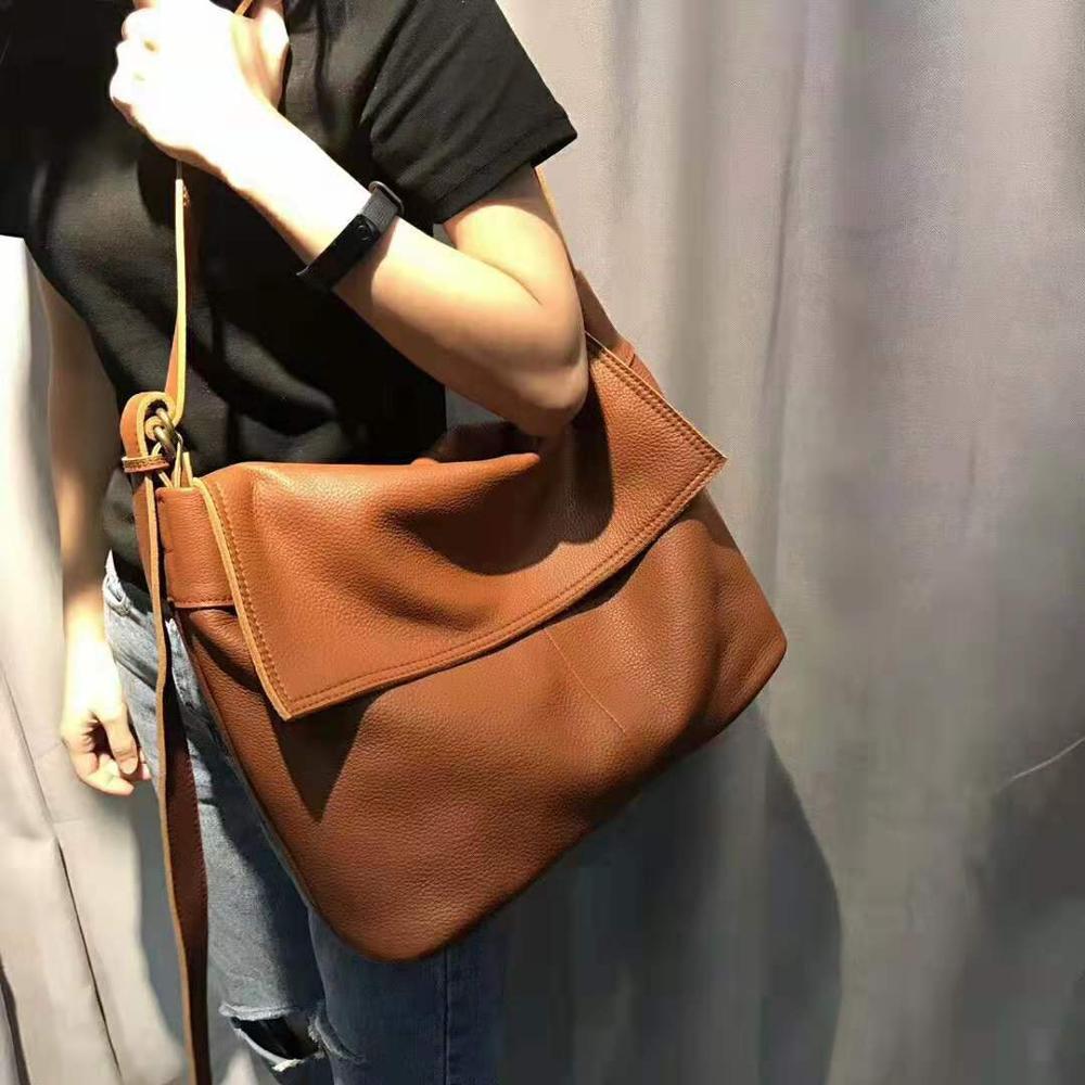 100% Genuine Leather Women Messenger Bags Casual Tote Luxury Brand Ladies Handbags Female Crossbody Bags For Women Shoulder Bag
