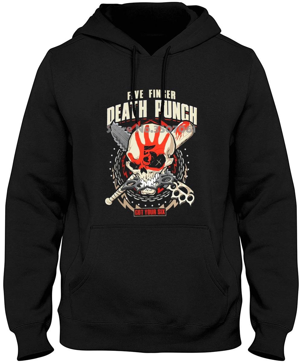 New Short Sleeve Long Sleeve Round Collar Mens Fashion 2019 Five Finger Death Punch Zombie Kill Hoodies & Sweatshirts