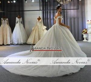 Image 3 - Seksi düğün elbisesi gerçek fotoğraflar hochzeit sapanlar düğün elbisesi 2020 yeni