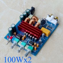 Protable TPA3116 Bluetooth Amplifier Board 100Wx2 TPA3116D2 2.0 Digital AMP with Preamplifier Adjust Car Home Use RCA DC24V(China)