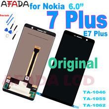 Original 6.0 LCD For Nokia 7 plus / E7 Plus TA-1062 TA-1046 TA-1055 LCD Display Touch Screen Digitizer Assembly shyueda 100% original new aaa for nokia 3 ta 1020 ta 1028 ta 1032 ta 1038 5 0 lcd display touch screen digitizer