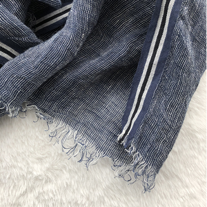 Image 4 - 2020 New Style Spring And Summer Leisure Business Mens Linen Scarf Solid Color Clause Versatile Breathable Shawl