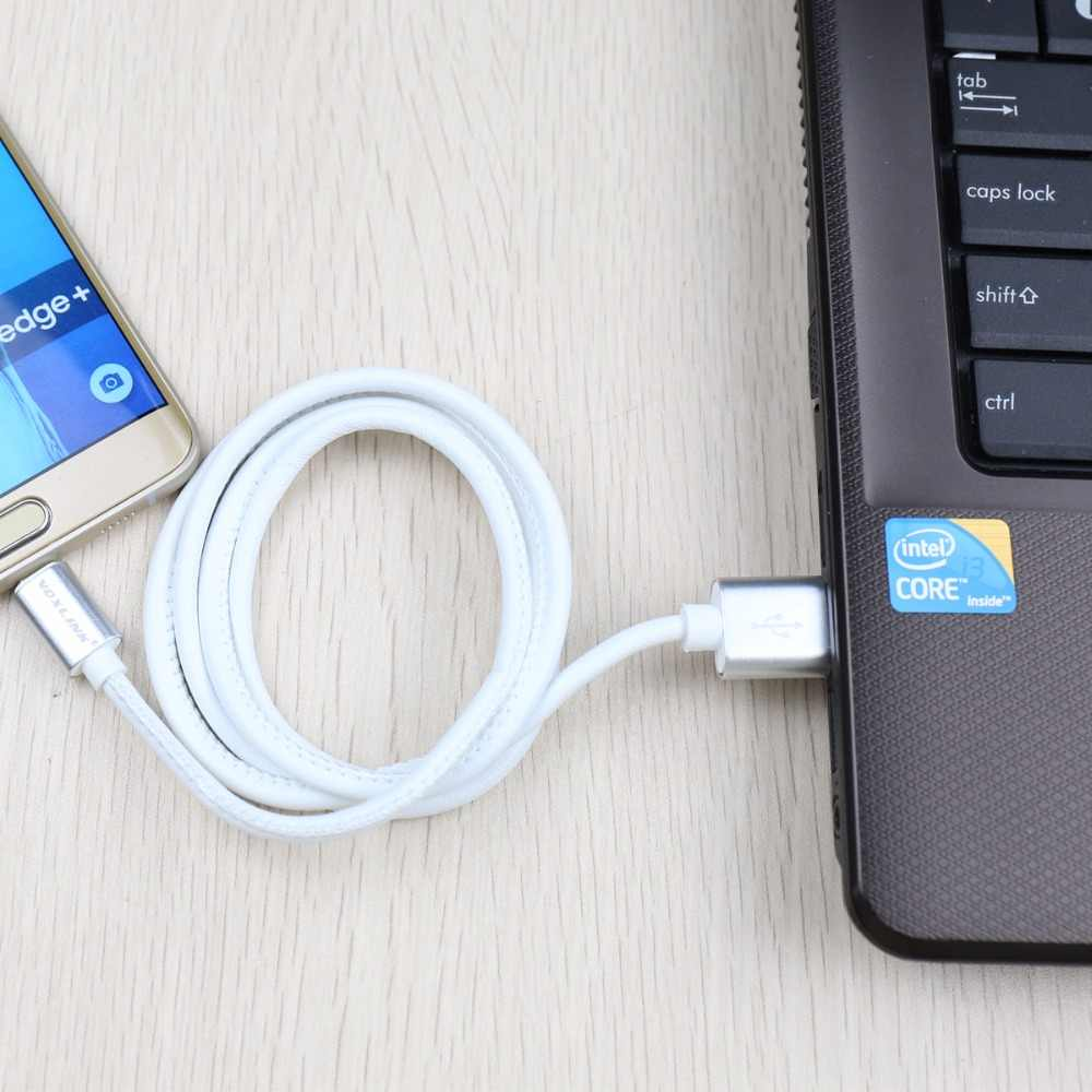 Originele Micro Usb Kabel Voxlink Pu Leer Snelle Opladen Usb Data Kabel Voor Samsung Htc Huawei Android Mobiele Telefoon Kabels
