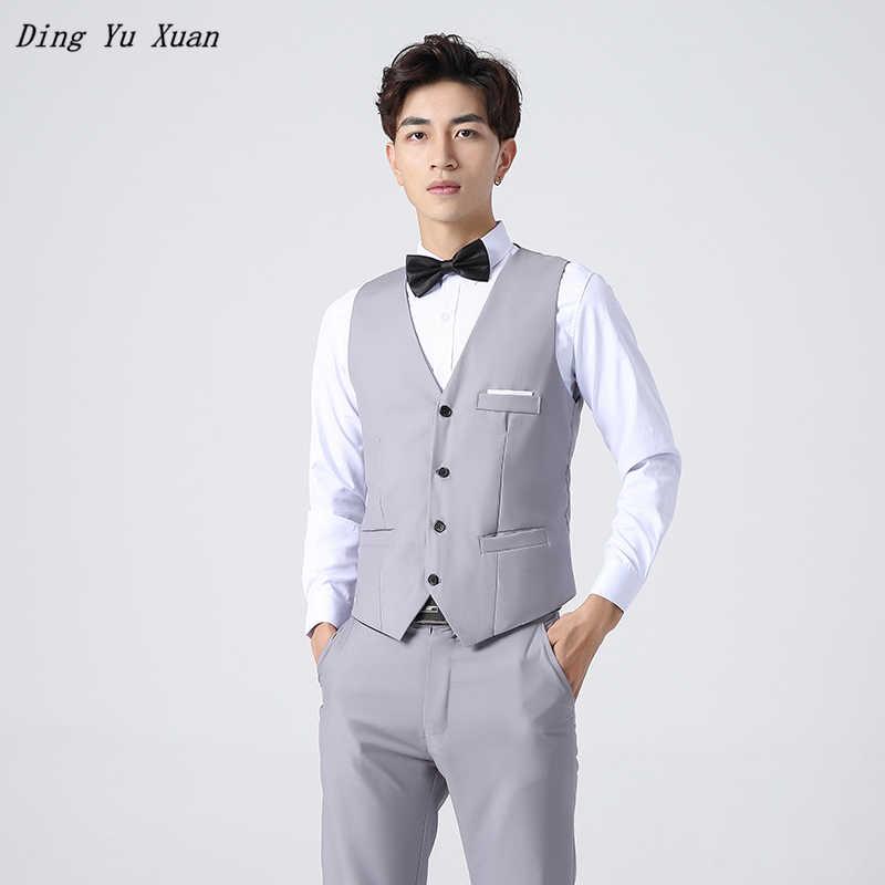 2020 Herren Schwarz Blau Grau Rot Hochzeit Weste Slim Fit Formale Taille Mantel für Männer Anzug Weste Chalecos Plus Größe hombre Gilet Homme