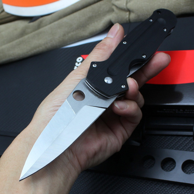 TUNAFIRE C215 Folding Knife G10 Handle CPM S30V Blade Tactical Survival Knives Outdoor Camping Hunting Knife Multi EDC Tools 3