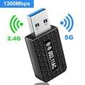 5G Гц Wi-Fi USB Wifi адаптер переменного тока 1300 Мбит/с Wi-Fi адаптер USB 3,0 Ethernet Wi-Fi антенны Dual Band 2,4 г и 5G модуль Wi-Fi для портативных ПК