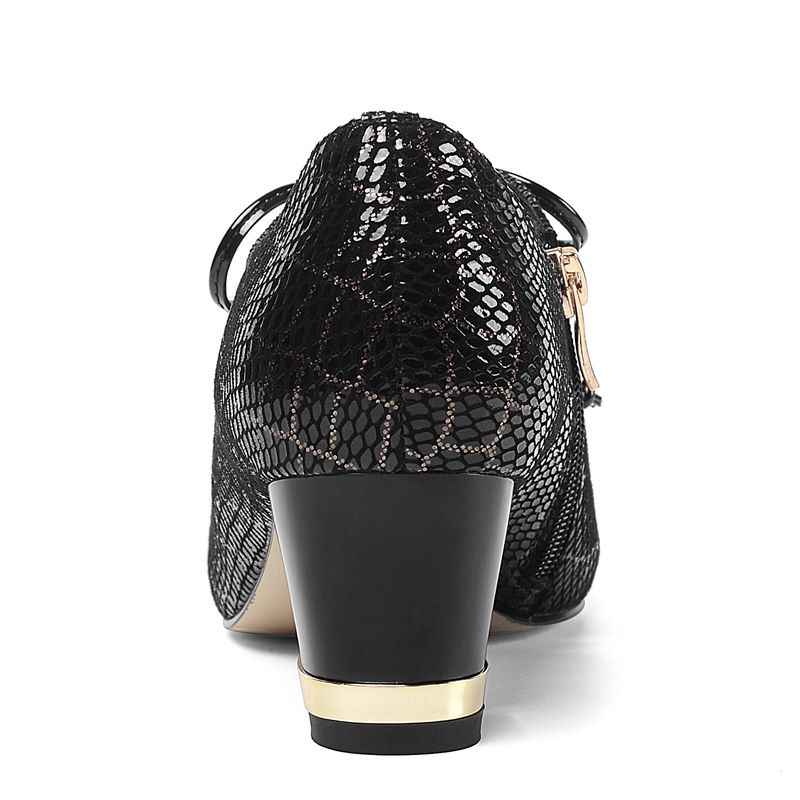 ALLBITEFO Zwei arten von echtem leder hohe ferse schuhe frühling herbst spitz frauen heels komfortable high heels Frenulum