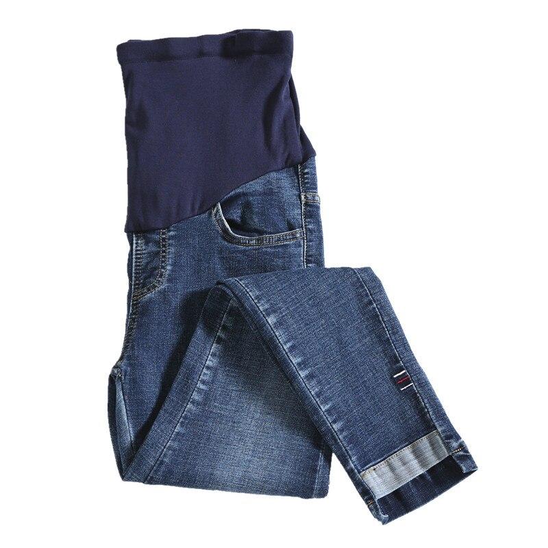 796# Cotton Stretch Denim Maternity Skinny Jeans Autumn Fashion Slim Pencil Pants Clothes For Pregnant Women Pregnancy Trousers
