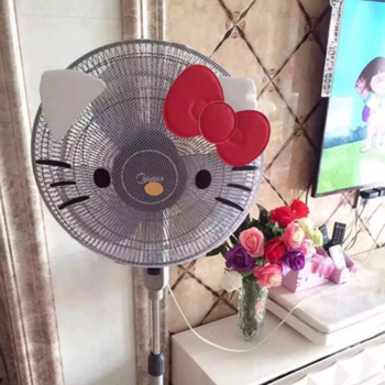 35-45cm Cute KT Cat Fan Dust Covers Kids Finger Guards Cover Pink White Helloo Kitty Doraemon Melody Cartoon Electric Fan Covers