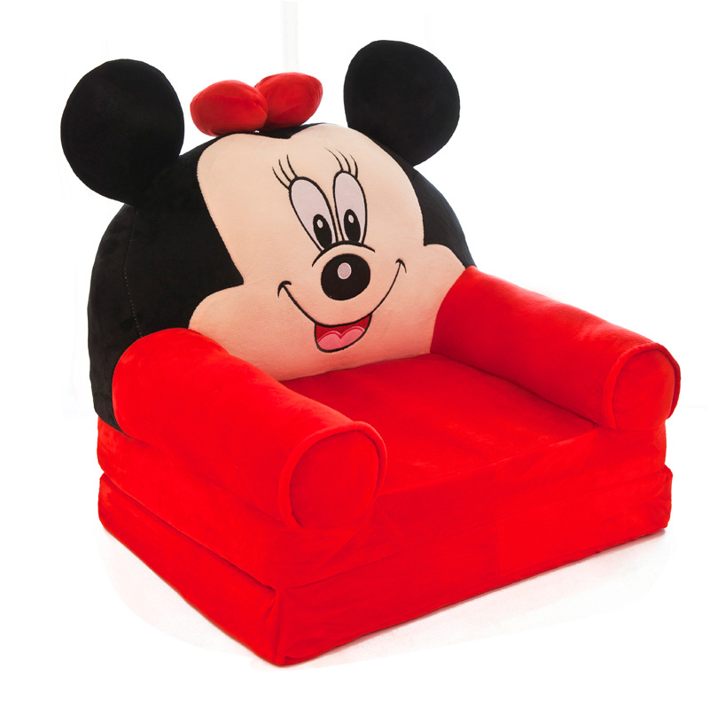 Folding Baby Sofa Mini Cartoon Cute Kids Sofa Bed Detachable Washable Padded Seat Lounge Chair With Filler Children Furniture