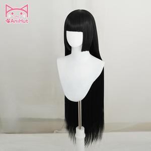 Image 3 - 【AniHut】Jabami Yumeko Wig Kakegurui Cosplay Wig Women Black 100cm Heat Resistant Synthetic Hair