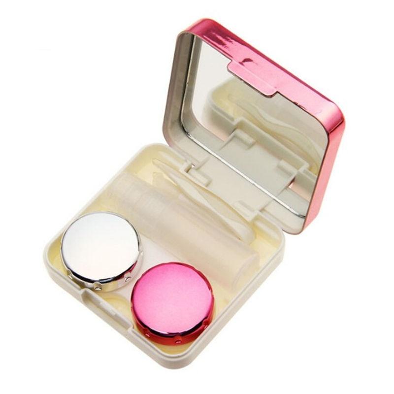 2020 цветной чехол для контактных линз с зеркалом Женская цветная