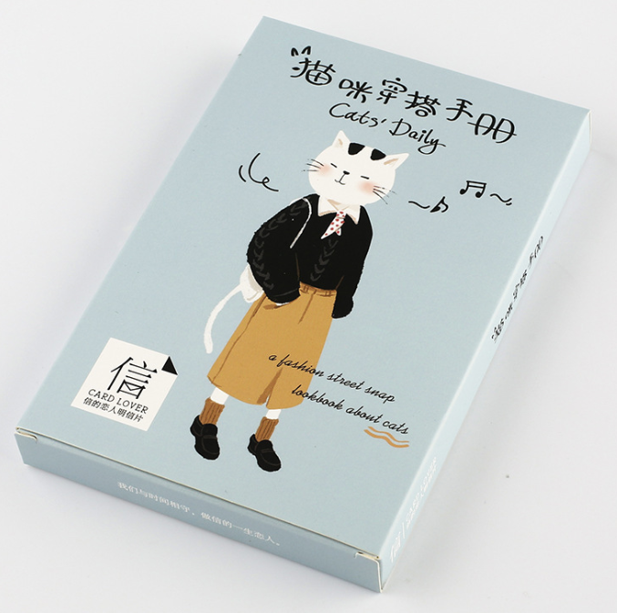 P6- Cat Wear Paper Postcard(1pack=30pieces)