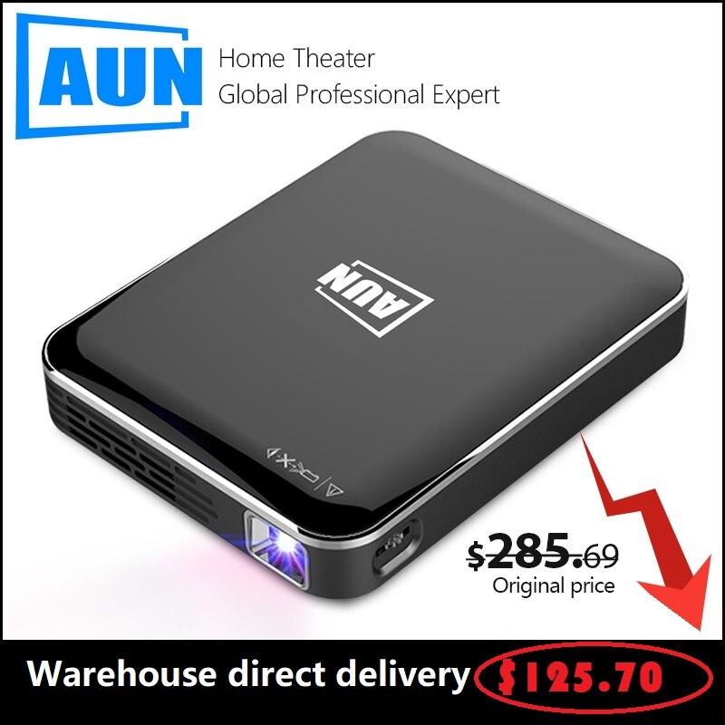 Original AUN MINI projecteur DLP X3 système multimédia Home cinéma vente directe 3D projecteur Portable Android/IOS 1080P de poche