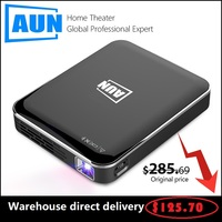 Original AUN MINI Projector DLP X3 Multimedia system Home Cinema Direct sales 3D beamer Portable Android/IOS 1080P Pocket sized
