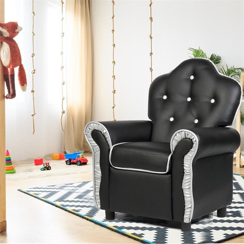 Black/Pink/Orange Living Room Kids Sofa Solid Hardwood Frame Single Sofa Uniform Sponge Easy To Clean With A Samp Cloth HW54212