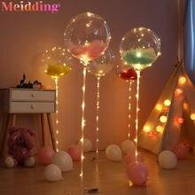 Suporte de balões para decoração, suporte para balões de luz led para decoração de chá de bebê, aniversário e festa de crianças