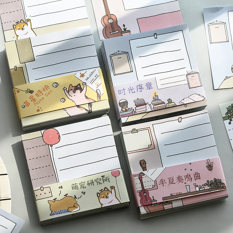 Cute Pet Cat Research Institute Series Sticky Notes Memo Pad Diary Stationary Flakes Scrapbook Decorative Cute N Times Sticky