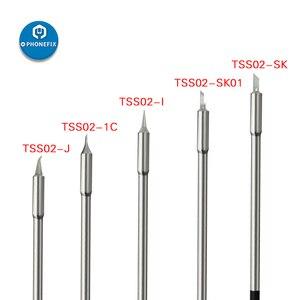 Image 2 - Ferro de solda original ts1200a, ponta sem chumbo de solda, ferramenta de caneta de solda, TSS02 SK TSS02 I TSS02 1C TSS02 J, ponta de ferro de soldagem