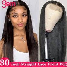 180 плотность волнистые кружева перед парик человеческих волос кружева фронтальная парик для чернокожих женщин камень Реми бразильского 30 дюймов 4x4 парики шнурка закрытие