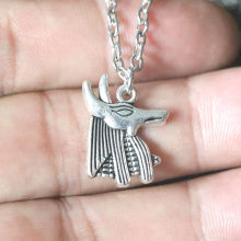 Egyptian Necklace Women Anubis Jackal God Pendant Necklaces Chain Statement Jewelry Collier Collares Colar naszyjnik Bijoux(China)