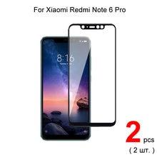 Защитное стекло закаленное для xiaomi redmi note 6 pro / 2 шт