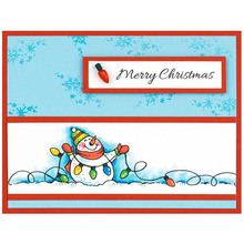 Clear Stamps Snowmen wishes best for you Phrases Transparent Stamp DIY scrapbooking Album Crafts Cards Decoration New 2019