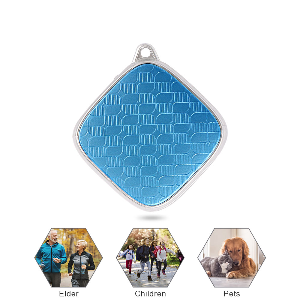 LANGMAO Mini GPS Tracker Children Kids Tracker GSM Voice Monitor SOS Alarm Free Web App Realtime Tracking Device Collar Pet Dog image
