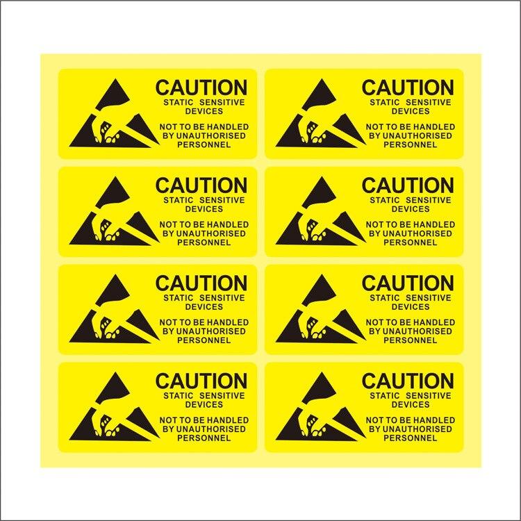 100 Pz/set Attenzione Attenzione Sticker Materiale Pvc Impermeabile Anti-Statica Mark Sensibile Elettronica di Imballaggio Etichette
