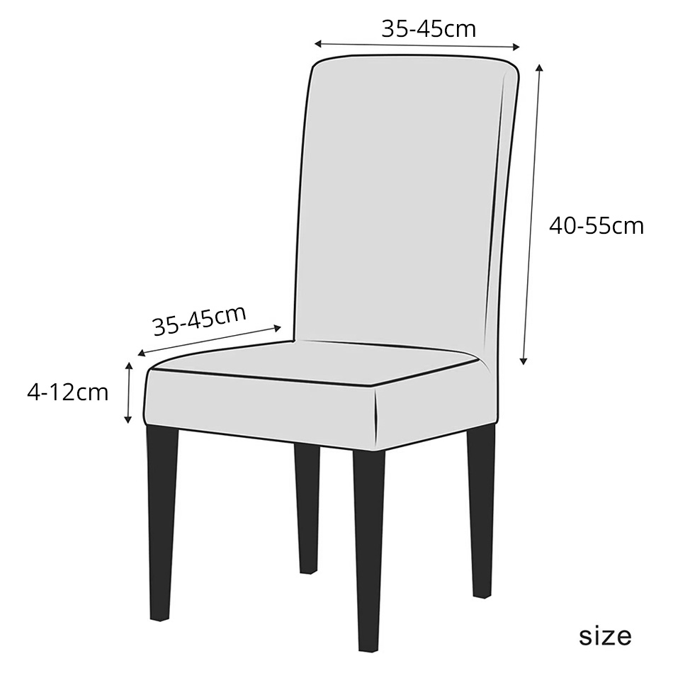 Spandex Elastic Velvet Dining Chair Cover 6 Chair And Sofa Covers