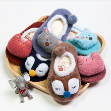 Emmababy Spring Autumn NewbornBaby Kids Toddler Anti Slip Cartoon Slipper Floor Socks Soft Warm Fluff Thick 6 Color Animal 0-5T