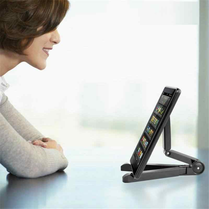 מתקפל טלפון Tablet Stand מחזיק מתכוונן שולחן העבודה הר סטנד חצובה שולחן שולחן תמיכה עבור IPhone IPad Mini 1 2 3 4 אוויר פרו
