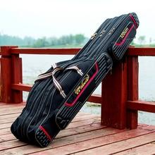 Waterproof fishing bag 80cm 90cm 120cm 2/3 Layers fish pole tools backpack Tackl