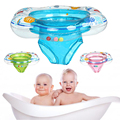 Kids Baby Swimming Ring Durable Inflatable Float Swimming Pool Ring Double Leak-Proof Train Safety Water Toy Pool Accessories