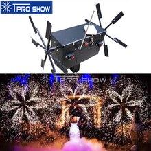 Fuente de fuego frío Pyrotechnics para boda, iluminación giratoria de escenario, sistema de encendido de efecto, máquina de Control remoto para espectáculo de escenario