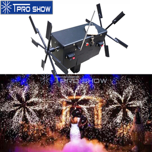 Image 1 - Wedding Pyrotechnics Cold Fire Fountain Rotating Stage Lighting Effect Ignition System Machine Remote Control For Stage Show