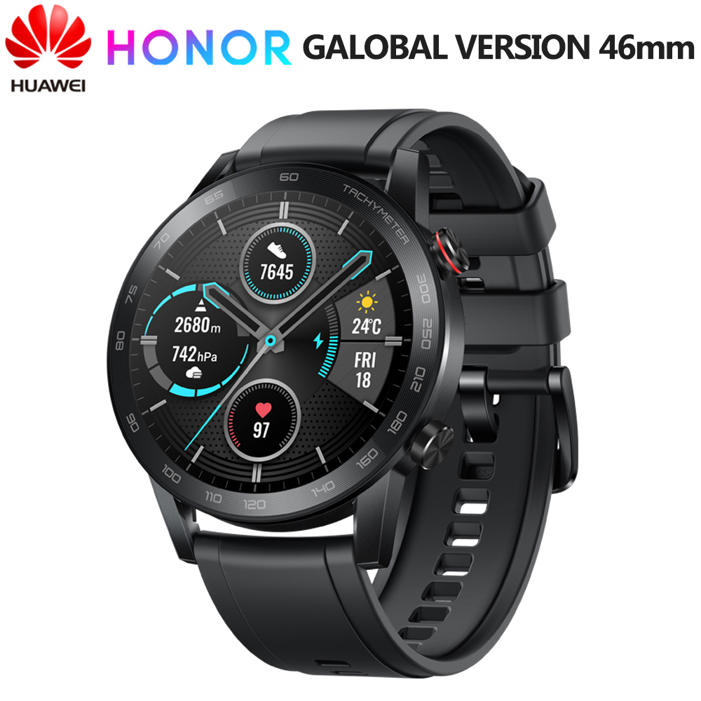 Huawei Honor Magic Watch 2 46MM GPS reloj inteligente hombres Fitness Tracker 14 días batería de vida Kirin A1 chip incorporado micrófono altavoz