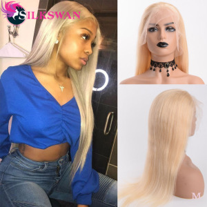 613 Blonde Full Lace Wigs Pre Plucked Brazilian Lace Human Hair Wigs With Baby Hair 38 40 Inches Silkswan Remy Hair