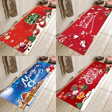 Christmas mat,Christmas lights mat, Christmas castles mat, festive atmosphere, flannel prints, non-skid absorbent mats. pebble series flannel printing home anti slip absorbent entry mat bathroom mat door mat bedside mat