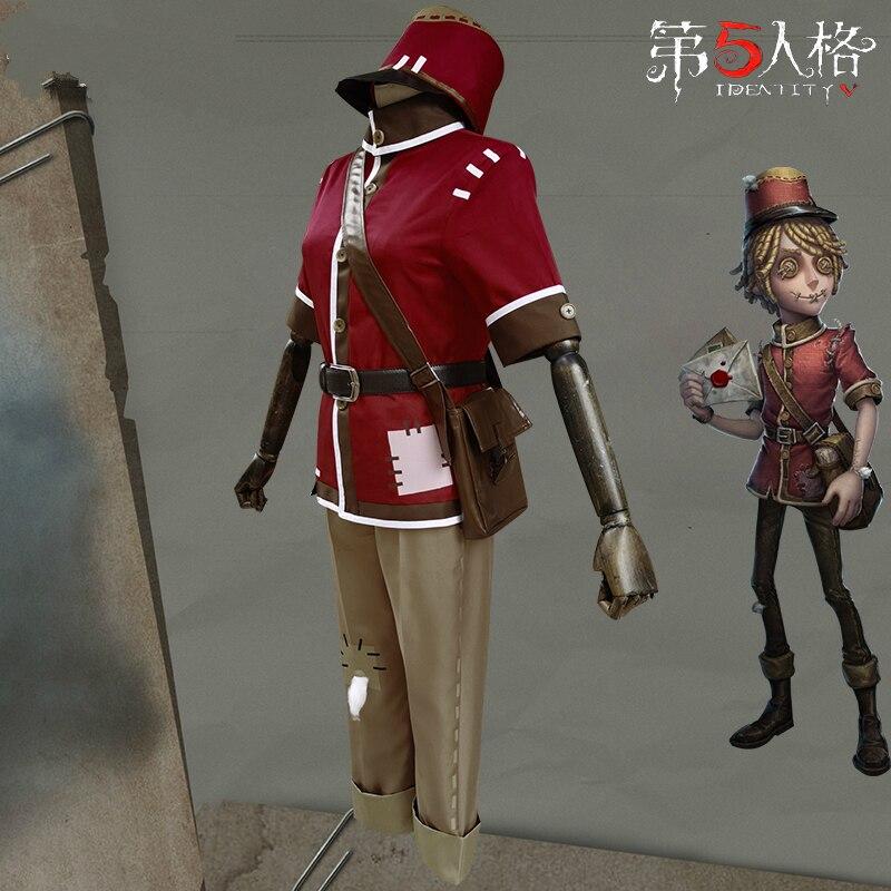 Карнавальный костюм Postman Victor Grantz, оригинальный костюм для выживания, красная униформа