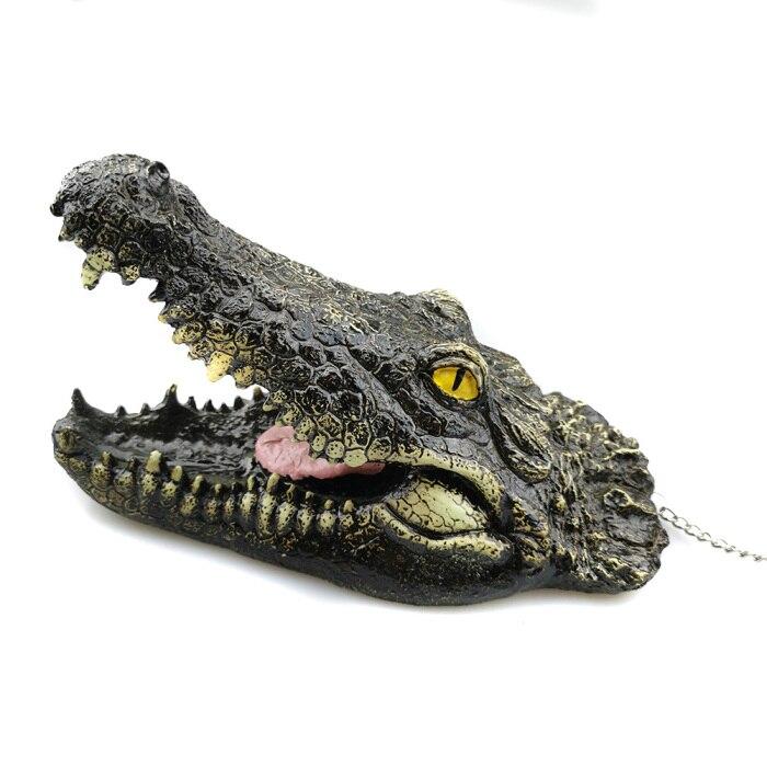 3 шт./компл. искусственный высокое качество плавающая смолы крокодилов для пруд для садовых прудов украшения OCT998