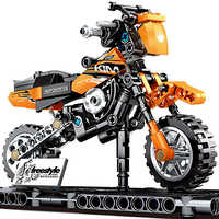 Creator Series City Racing KTM Orange Motorcycle Sports Car Building Blocks Sets Kits Bricks Classic Model Kids Toys Compatible