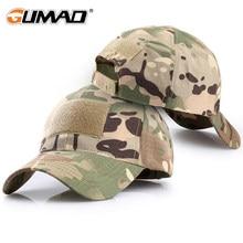 Outdoor Multicam Camouflage Regolabile protezione della Maglia del Berretto Tattico Militare Dell'esercito di Airsoft Pesca Caccia Escursioni Cappello di Snapback di Pallacanestro