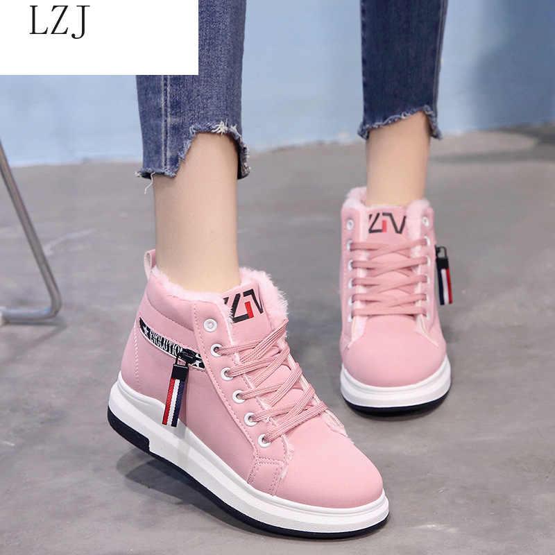 Nowe buty damskie Martin Med obcasy buty codzienne zimowe botki dla kobiet jesienne buty damskie modne buty Zip