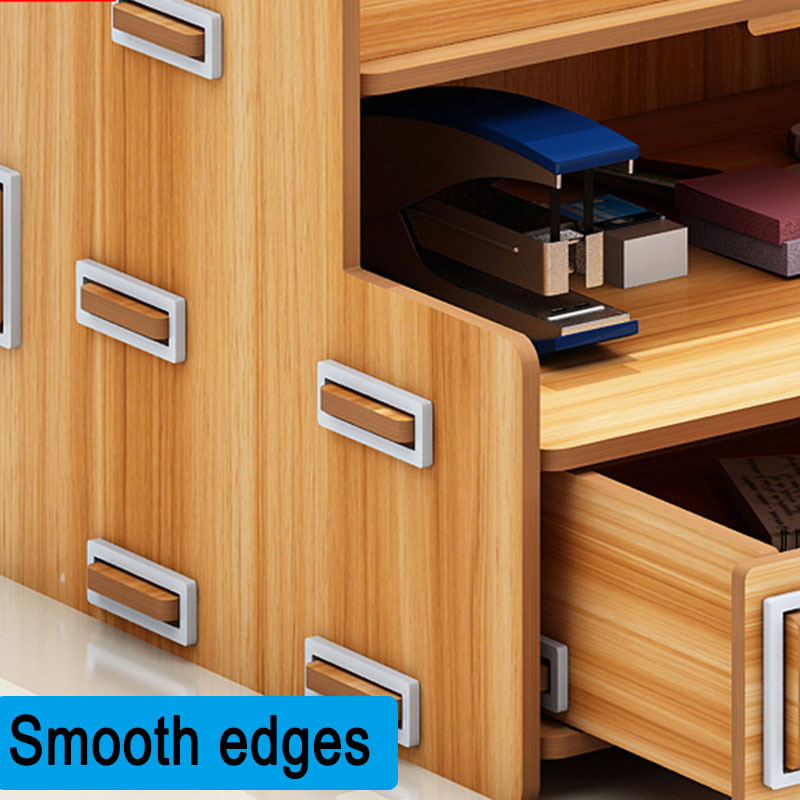 Wooden Storage Box Bookends Multifunctional Desktop Rack Office Organizer OD889