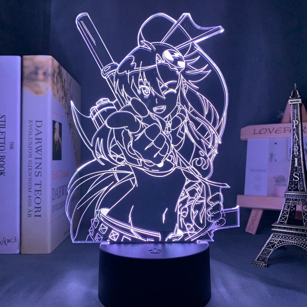 Hcc90006def8a4b1e96423ca74e15a0031 Luminária Anime gurren lagann yoko luz conduzida da noite para o quarto decoração presente de aniversário noite lâmpada yoko littner luz gurren lagann gadget