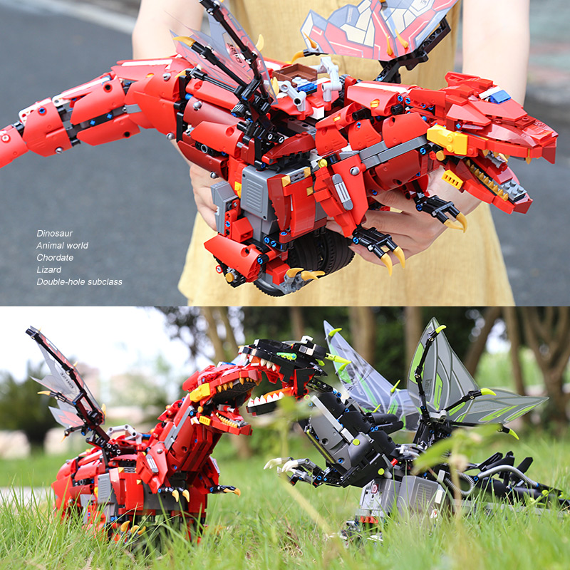 MOULD KING 13029 APP RC Toys With Music Compaitble With 70612 Mecha Dragon