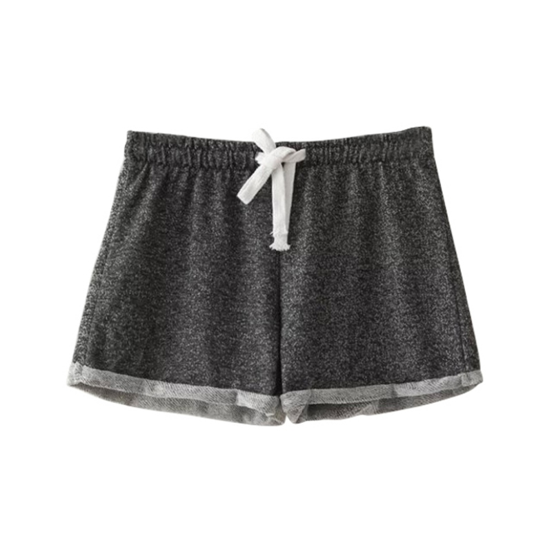 Summer Sexy Solid Tracksuit Casual Women Short Cotton Black Summer Shorts For Waist High