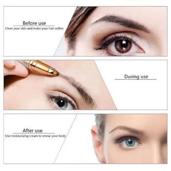 2pcs/lot Free Shipping Eyebrow Pen Hair Removal& Lipstick Eyebrow Epilator Makeup Tool Home Use Razor  Electric Lady Shaver